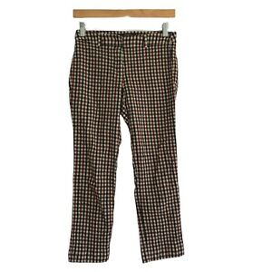 MaxMara Weekend Wool Blend Checked Trousers 'Cigarette' Fit W13 Stretch
