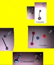LOT 6 PIERCING langue - arcade – nombril