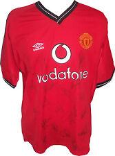 Signed 20 Manchester United Shirt David Beckham Alex Ferguson Giggs Solskjaer ++