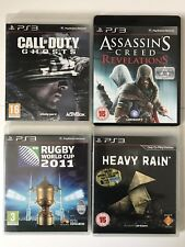 PS3 Games-Rugby World Cup+Assassins Creed Revelations+COD Ghosts+Heavy Rain (806