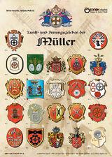 Poster Müller,23 alte Handwerkszeichen,Beschreibung