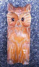 Vintage 1969 Wooden Owl Boot Shoe Polish Brush Holder. Wall Hanging. Home Decor.