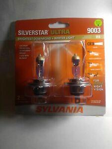Sylvania Silverstar Ultra 9003 HB2 H4 60/55W Dual Beam Head Light Bulbs NEW