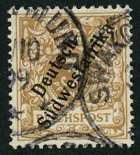 177/DSWA 1898 Krone/Adler 5 e Gestempelt Foto-Befund Steuer BPP