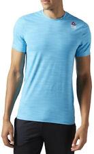 Reebok Crossfit Activchill Mens Blue Short Sleeve Crew Neck Gym T Shirt Tee S