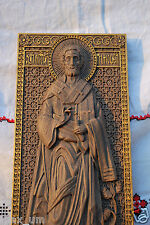 """Saint Timothy Unique christian gift Wooden Carving 8"""" x 17"""" FREE ENGRAVING"""