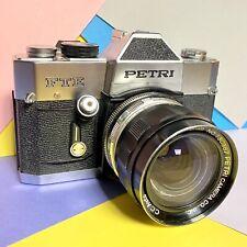 Vintage Petri FTE 35mm SLR Film Camera w/ 28mm f3.5 Lens, CLA'D  Serviced Lomo