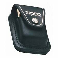 More details for zippo lighter pouch black leather loop