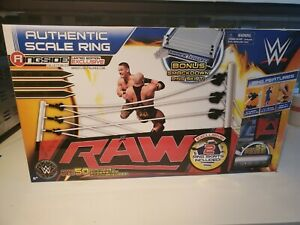 SEALED! WWE Elite Authentic Scale Raw Edition Ring Playset 55 PIECES! SEALED !!