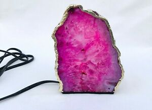 Pink Agate/Gemstone/Lamp/Desk/Night Light For Home And Office Decor