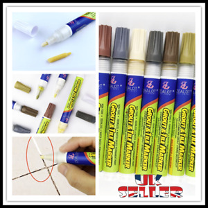 UK Grout Pen Anti-Mould Reviver Repair Restoration Whitener Renew Cleaning Brush