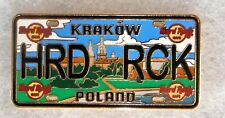 HARD ROCK CAFE KRAKOW POLAND LICENSE PLATE SERIES PIN # 89412