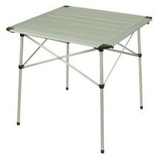 10T Alutab Light - Mesa de camping 70 x 70 cm, con tablero laminado de aluminio,