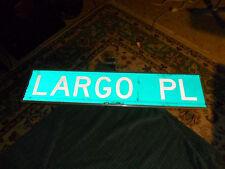 "Vintage LARGO PL Aluminum Honeycomb Reflective 30"" Original 2 Sided Street Sign"