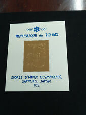 Chad 1972 Olympic winter Games gold stamps  MS MICHEL BL22