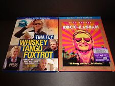 WHISKEY TANGO FOXTROT & ROCK THE KASBAH-2 movies-TINA FEY, BILL MURRAY-Blu-Ray