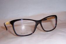 NEW GUCCI EYEGLASSES GG 3695 2ZX HAVANA GOLD PLATED 54mm RX SPECIAL AUTHENTIC