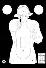 Cible Silhouette Police 51 x 71 cm - Paquet de 20 - Fond Noir