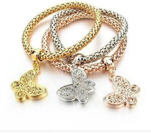 Butterfly Trio Charm Bracelets