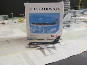 "Vintage HERPA WINGS 'US AIRWAYS"" Boeing 767-200; 1:500; Excellent Condition!"