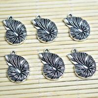 40pcs Tibetan silver conch charms FC10857