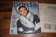 BURDA MODE 10 / 1969 -- über 200 Seiten: MODE - MIEDER - SCHUHE - KOSMETIK