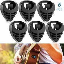6 Pieces Pick Holder Stick-on Guitar Pick Holder Black Plastic Easy to Paste