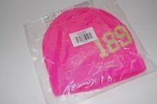 Abercrombie & Fitch Women's Pretty Pink Intarsia Logo Beanie Knit Winter Hat NWT