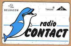 Belgium radio Contact phonecard 20u used