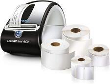 DYMO Label Writer 450 Free Printer Bundle with 4 Label Rolls, Black/Silver