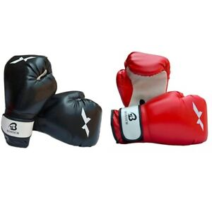 Boxing Gloves Muay Thai Sparring Mma Wraps Training Fist Bag Mitts Inner Leather