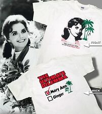 MARY ANN OR GINGER THE ULTIMATE DILEMMA GILLIGAN'S ISLAND TSHIRT WHITE