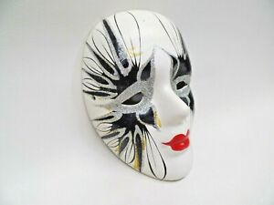 "Venetian Style Mask Wall Hanging 5"" T Hand Painted"