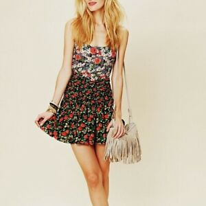 Free People English Garden mini floral dress S small
