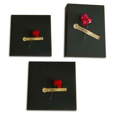 Black Kraft Paper Gift Box With Roses Simple Design Present Container With Lid