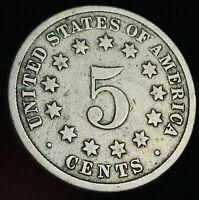 Shield Nickel 1867-1883 5 Cents 5C High Grade Worn Date Civil War US Coin CC2899