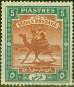 Sudan 1902 5p Brown & Green SG27 Fine Mtd Mint (2)