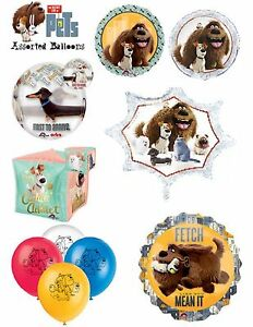 Secret Life Of Pets Foil Balloons Party Ware Decoration NoveltyGift Helium Latex