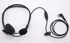 Overhead Boom Mic PTT Headset for Motorola Radio 2 PIN GP68 CP150 GP88 CP200