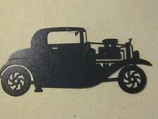 1933 HOT ROD WALL ART TEXTURED  BLACK POWDER COAT FINISH