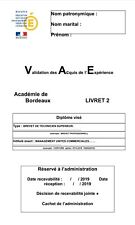 Livret 2 VAE BTS MUC 2019 VALIDÉ 7 ACTIVITES + Questions Jury