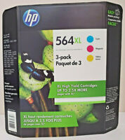 HP 564XL Original Color 3-Pack Ink Cartridge Cyan Magenta Yellow | Expiry : 2021