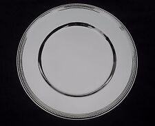 Spazio piatti argentati - 6 pezzi-bordo Perl - 33 CM-NUOVO