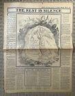 ORIGINAL - RMS TITANIC - THE BOSTON AMERICAN - EDITORIAL SECTION APRIL 28,1912