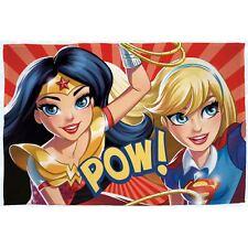 DC COMICS SUPER-HÉROS FILLES GRAND COUVERTURE POLAIRE SUPERGIRL WONDER WOMAN