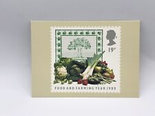 Food And Farming Year Fruit & Vegetables Stamp Postcard  Royal Mail 1989