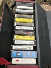 13 Vintage A Track Tapes In Carry Case Includes Frank Sinatra, Acker Bilk Etc