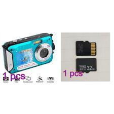 Kids Waterproof Underwater Swimming Digital Camera Camcorder HD 48mp Dual Screen