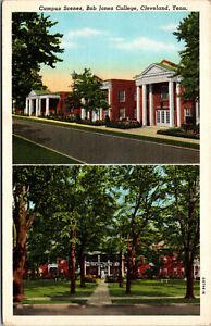 Vtg 1940s Bob Jones College Campus Scenes Cleveland Tennessee TN Postcard