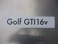 Distributeur Showroom Plaque Immatriculation Logo VW Volkswagen Golf Gti 16v